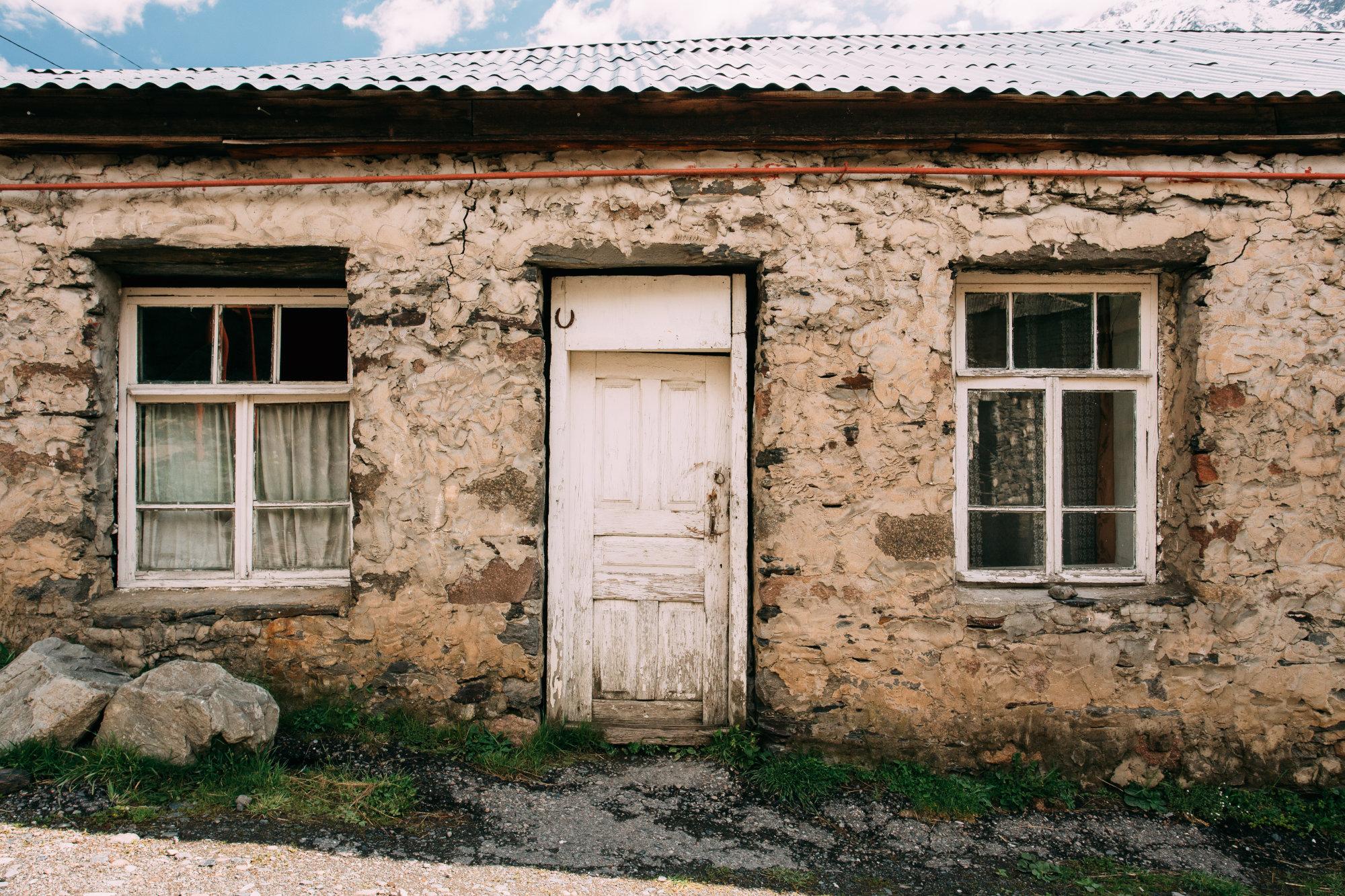 Old hillside house
