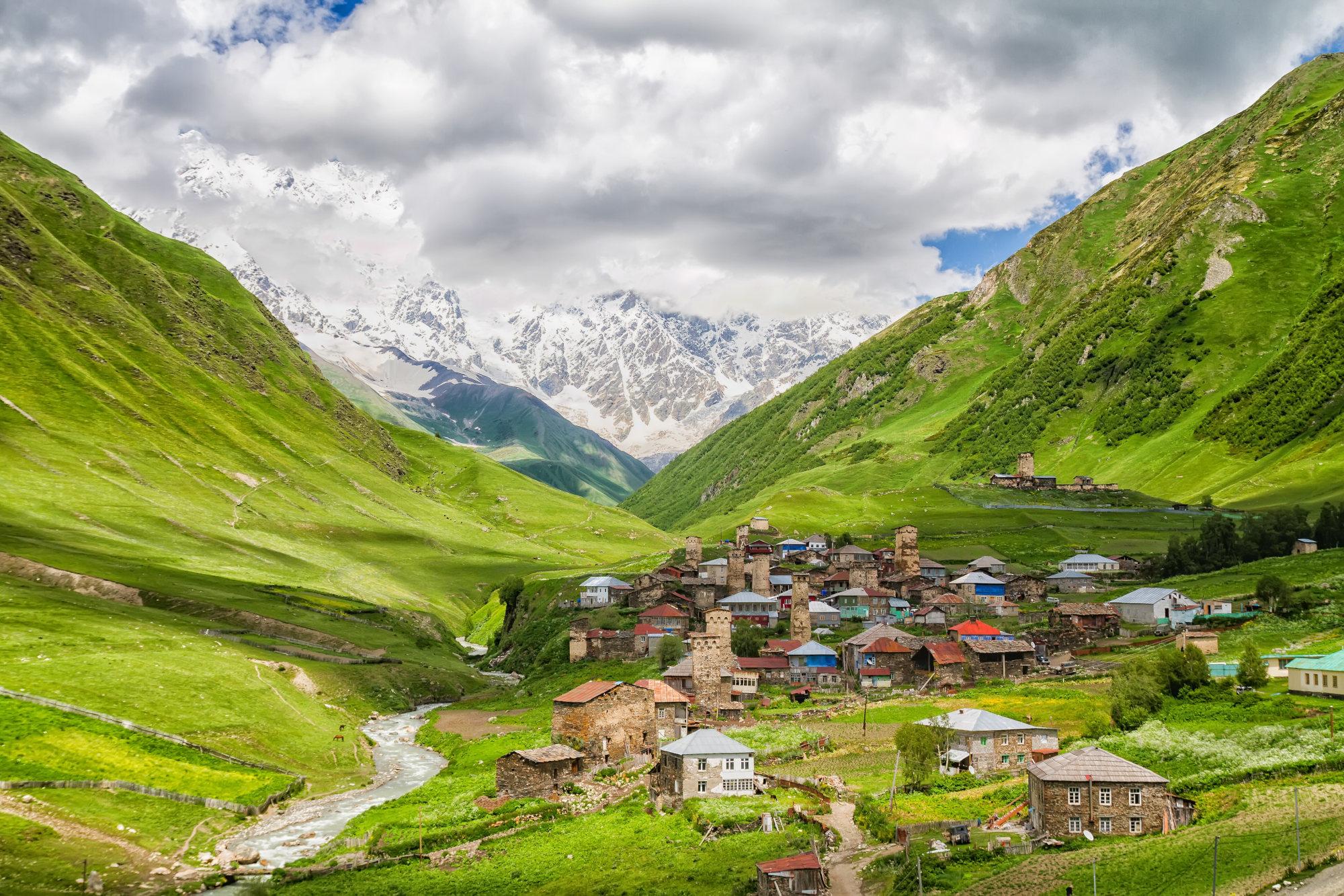 Ushguli - the highest inhabited village in Europe