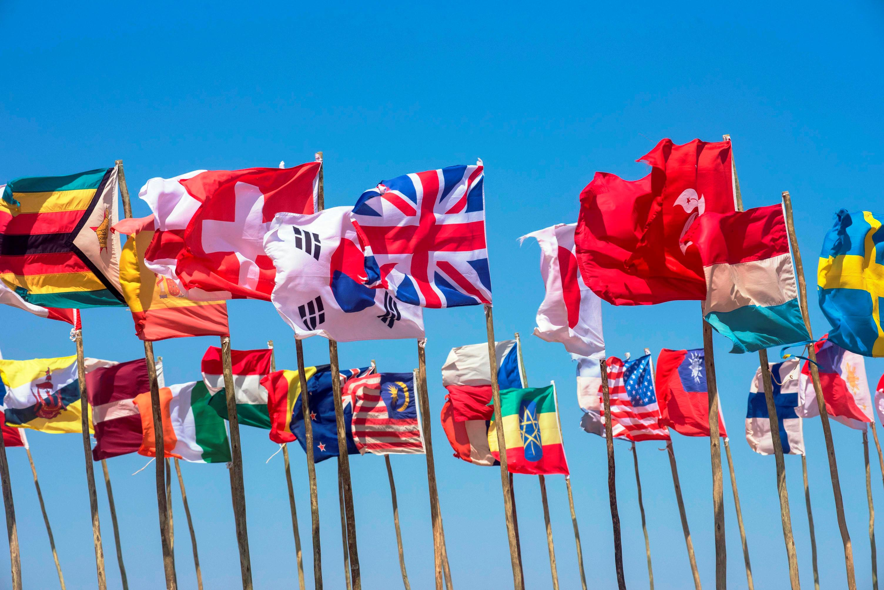 More 40 countries are represented at each race