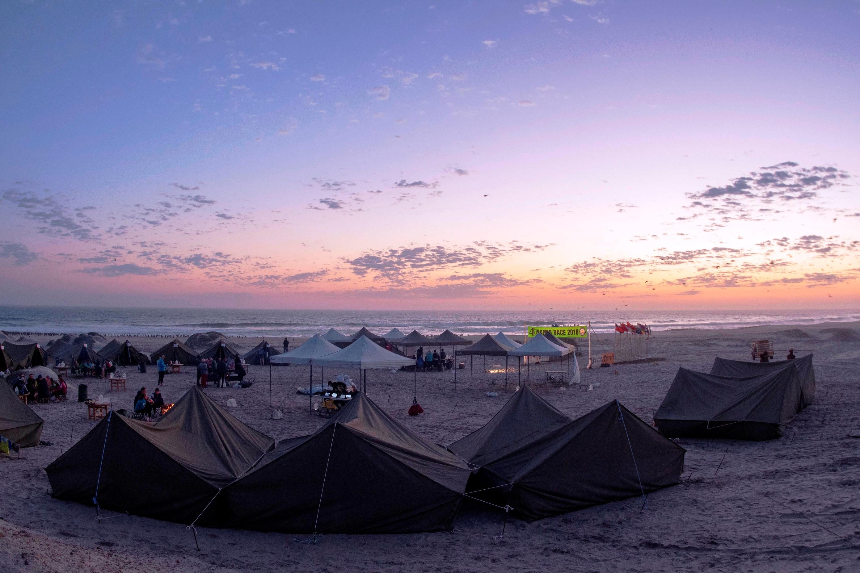 African Camp in the Namib Race