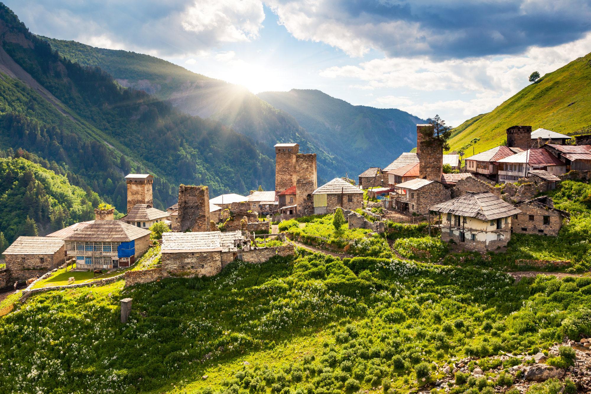 Medieval towers Ushguli